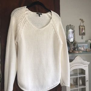 Eileen Fisher 100% cotton knit pull over sweater